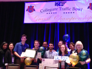 2015 International Collegiate Traffic Bowl 1st Place Champions – Cal Poly, SLO