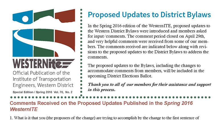 WesternITE Special Edition: District Bylaws Update
