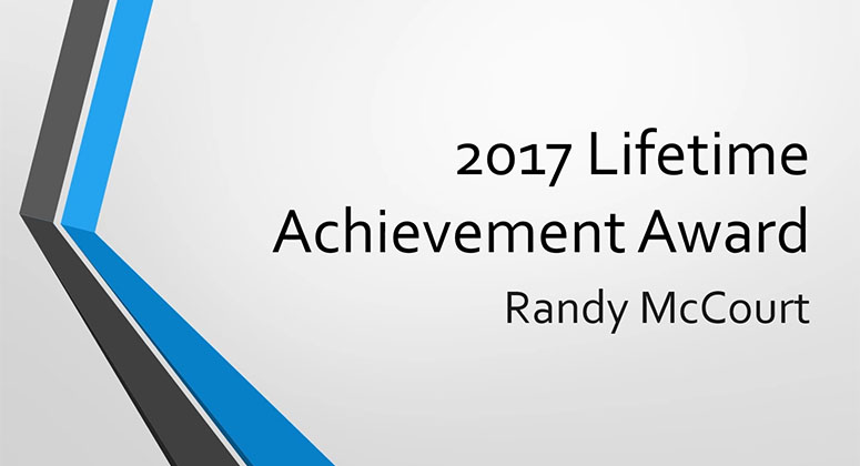 2017 Lifetime Achievement Award Winner – Randy McCourt